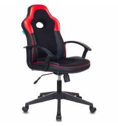 Кресло Бюрократ VIKING-11/BL-RED игровое, экокожа/ткань, цвет черный/красный