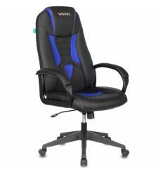 Кресло Бюрократ VIKING-8N/BL-BLUE игровое, экокожа, цвет черный/синий