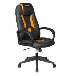Кресло Бюрократ VIKING-8N/BL-OR игровое, экокожа, цвет черный/оранжевый