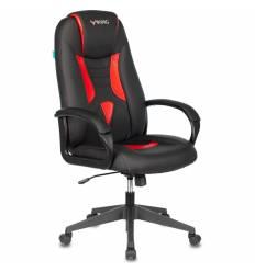 Кресло Бюрократ VIKING-8N/BL-RED игровое, экокожа, цвет черный/красный