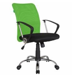 Кресло Riva Chair 8075 зеленый для оператора, хром, спинка сетка