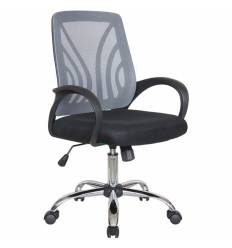 Кресло Riva Chair 8099 серый для оператора, хром, спинка сетка