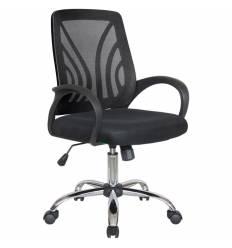 Кресло Riva Chair 8099 черный для оператора, хром, спинка сетка