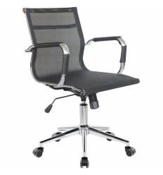 Кресло Riva Chair 6001-2 S черное для руководителя, хром, сетка