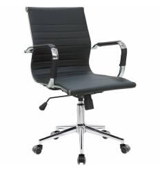 Кресло Riva Chair 6002-2 S черное для руководителя, хром, экокожа
