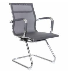 Кресло Riva Chair 6001-3 серое для посетителя, хром, сетка