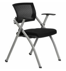 Кресло Riva Chair 462E черное для посетителя, спинка сетка