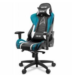 Кресло Arozzi Gaming Chair - Star Trek Edition - Blue, компьютерное (для геймеров), экокожа, цвет черный/синий/белый