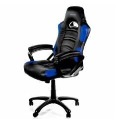 Кресло Arozzi Enzo - Blue, компьютерное (для геймеров), экокожа, цвет черный/синий