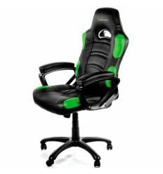 Кресло Arozzi Enzo - Green, компьютерное (для геймеров), экокожа, цвет черный/зеленый