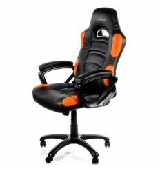 Кресло Arozzi Enzo - Orange, компьютерное (для геймеров), экокожа, цвет черный/оранжевый
