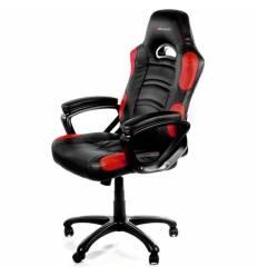 Кресло Arozzi Enzo - Red, компьютерное (для геймеров), экокожа, цвет черный/красный