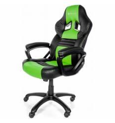 Кресло Arozzi Monza - Green, компьютерное (для геймеров), экокожа, цвет черный/зеленый