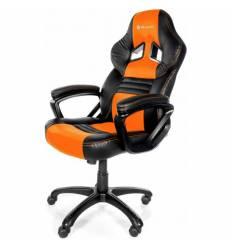 Кресло Arozzi Monza - Orange, компьютерное (для геймеров), экокожа, цвет черный/оранжевый
