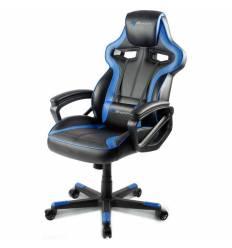 Кресло Arozzi Milano - Blue, компьютерное (для геймеров), экокожа, цвет черный/синий