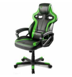 Кресло Arozzi Milano - Green, компьютерное (для геймеров), экокожа, цвет черный/зеленый