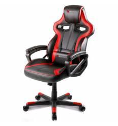Кресло Arozzi Milano - Red, компьютерное (для геймеров), экокожа, цвет черный/красный