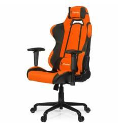 Кресло Arozzi Torretta Orange V2, компьютерное (для геймеров), ткань, цвет оранжевый/черный