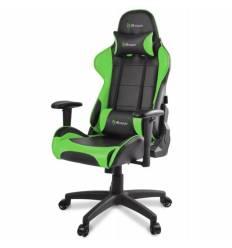 Кресло Arozzi Verona - Green, компьютерное (для геймеров), экокожа, цвет черный/зеленый