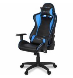 Кресло Arozzi Mezzo V2 Blue, компьютерное (для геймеров), экокожа, цвет черный/синий