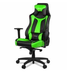 Кресло Arozzi Vernazza Green, компьютерное (для геймеров), экокожа, цвет черный/зеленый