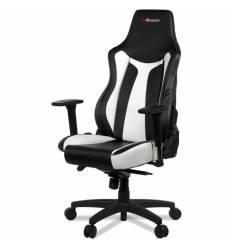 Кресло Arozzi Vernazza White, компьютерное (для геймеров), экокожа, цвет черный/белый