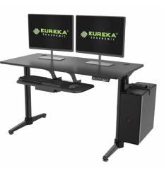 Стол Eureka EHD-I1 для компьютера (для геймеров) c электрической регулировкой по высоте, чёрный