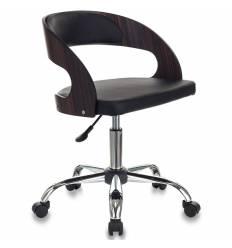 Кресло Бюрократ CH-370SL/BLACK для оператора, хром, экокожа, цвет черный