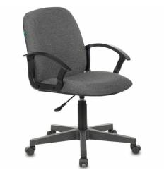 Кресло Бюрократ CH-808-LOW/G для руководителя, низкая спинка, серый, НА ПИАСТРЕ