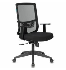 Кресло Бюрократ MC-611T/B/26-28 для руководителя, сетка/ткань, цвет черный