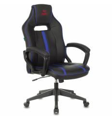 Кресло Бюрократ VIKING ZOMBIE A3 BL игровое, экокожа, цвет черный/синий