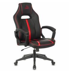 Кресло Бюрократ VIKING ZOMBIE A3 RED игровое, экокожа, цвет черный/красный