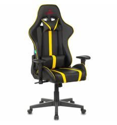 Кресло Бюрократ VIKING ZOMBIE A4 YEL игровое, экокожа, цвет черный/желтый