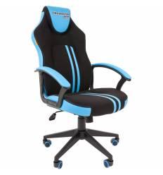 Кресло CHAIRMAN GAME 26 Blue геймерское, экокожа/ткань, цвет черный/голубой