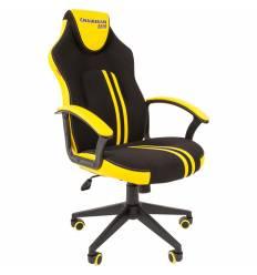 Кресло CHAIRMAN GAME 26 Yellow геймерское, экокожа/ткань, цвет черный/желтый