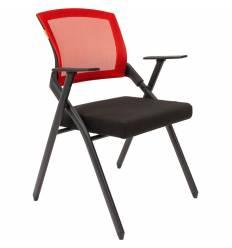 Кресло CHAIRMAN NEXX Red для посетителя, сетчатая спинка, ткань, цвет красный/черный