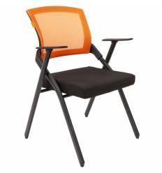 Кресло CHAIRMAN NEXX Orange для посетителя, сетчатая спинка, ткань, цвет оранжевый/черный