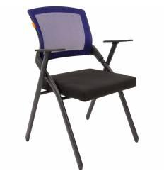 Кресло CHAIRMAN NEXX Blue для посетителя, сетчатая спинка, ткань, цвет синий/черный