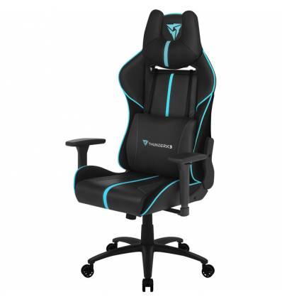 Кресло ThunderX3 BC5 Black-Cyan для геймеров, экокожа, цвет черный/голубой