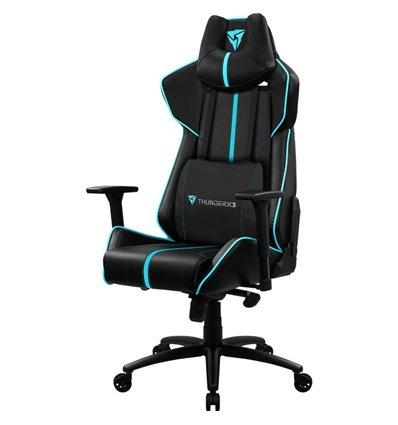 Кресло ThunderX3 BC7 Black-Cyan для геймеров, экокожа, цвет черный/голубой