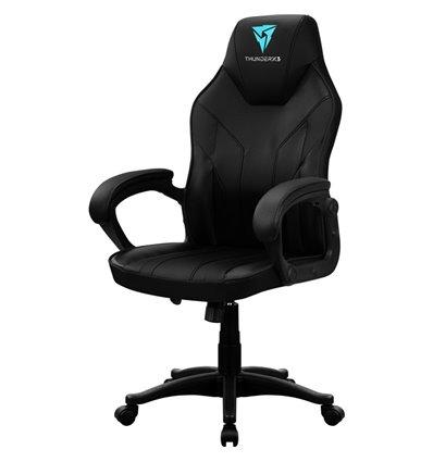 Кресло ThunderX3 EC1 Air Black для геймеров, экокожа, цвет черный