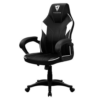 Кресло ThunderX3 EC1 Air Black-White для геймеров, экокожа, цвет черный/белый