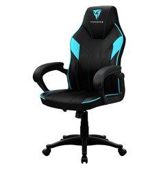 Кресло ThunderX3 EC1 Air Black-Cyan для геймеров, экокожа, цвет черный/голубой