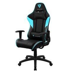 Кресло ThunderX3 EC3 Black-Cyan Air для геймеров, экокожа, цвет черный/голубой