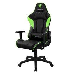 Кресло ThunderX3 EC3 Black-Green Air для геймеров, экокожа, цвет черный/зеленый