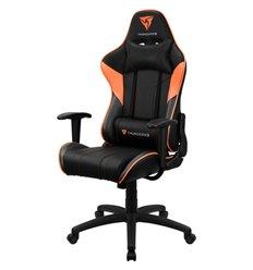 Кресло ThunderX3 EC3 Black-Orange Air для геймеров, экокожа, цвет черный/оранжевый