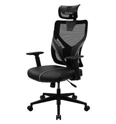 Кресло ThunderX3 YAMA1 Black для геймеров, сетка/экокожа, цвет черный