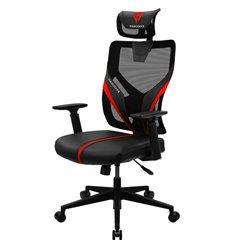 Кресло ThunderX3 YAMA1 Black-Red для геймеров, сетка/экокожа, цвет черный/красный