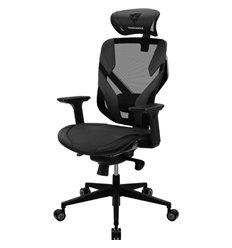 Кресло ThunderX3 YAMA5 Black для геймеров, сетка/экокожа, цвет черный