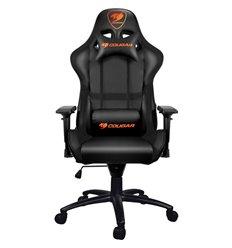 Кресло COUGAR ARMOR компьютерное игровое, экокожа, цвет черный